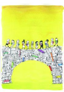 Cartel de Rafael Salmerón para el 41 Salón del Libro Infantil y Juvenil de Madrid